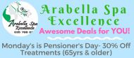 PENSIONER MONDAY'S AT ARABELLA SPA EXCELLENCE